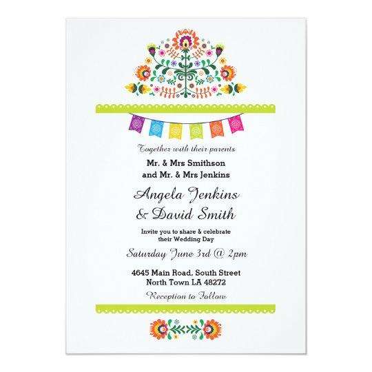 fiesta mexican wedding party colorful invitation zazzle com