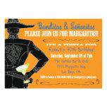 Fiesta mexicana Banditos, Senoritas y Margaritas Invitacion Personalizada