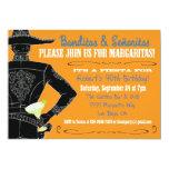 Fiesta mexicana Banditos, Senoritas y Margaritas Invitación 12,7 X 17,8 Cm