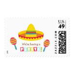 Fiesta mexicano de la fiesta del sombrero colorido sello