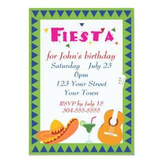 """Fiesta mexicano de la fiesta invitación 5"""" x 7"""""""