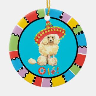 Fiesta Miniature Poodle Ceramic Ornament