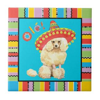 Fiesta Miniature Poodle Ceramic Tile