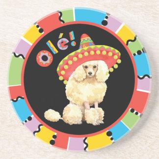 Fiesta Miniature Poodle Drink Coaster