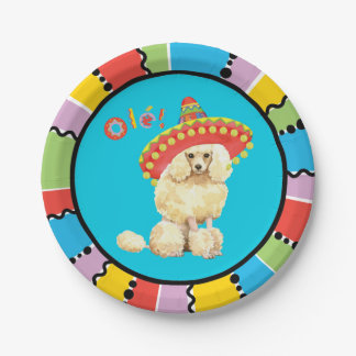 Fiesta Miniature Poodle Paper Plate