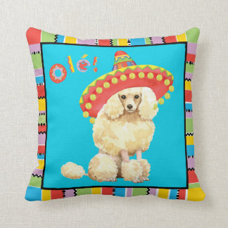 Fiesta Miniature Poodle Throw Pillow