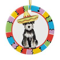 Fiesta Miniature Schnauzer Ceramic Ornament
