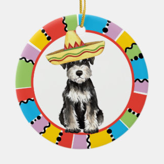 Fiesta Miniature Schnauzer Ceramic Ornament