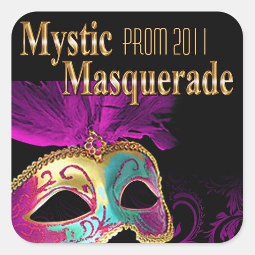 Fiesta místico de la mascarada del baile de fin de etiqueta