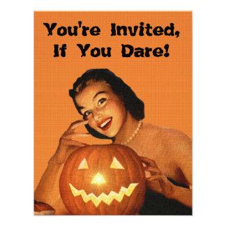 Fiesta modelo de Halloween de los años 50 retros Anuncio Personalizado