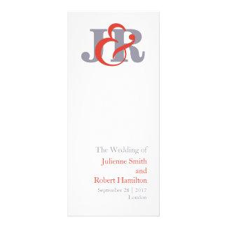 Fiesta   Modern Monogram Wedding Program