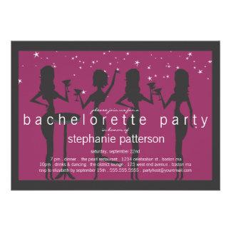 Fiesta moderno de Bachelorette del cóctel de las c Comunicados Personales