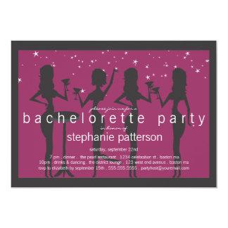 Fiesta moderno de Bachelorette del cóctel de las Invitación 12,7 X 17,8 Cm