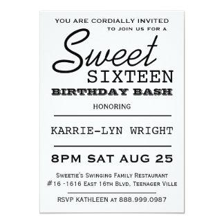 Fiesta moderno del dulce 16 del estilo del poster invitacion personalizada