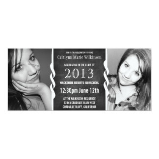 Fiesta moderno del graduado de la foto de la anuncios personalizados