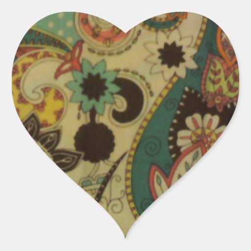 Fiesta Mosaic Heart Sticker