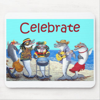 Fiesta Mousepad de la playa del delfín Alfombrillas De Ratón