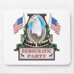 Fiesta Mousepad de Rhode Island Demócrata Tapete De Ratones