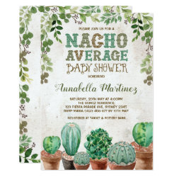 Fiesta Nacho Average Baby Shower Cactus Invite