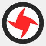 Fiesta nacionalista social sirio, bandera de Siria Etiquetas Redondas