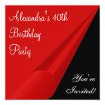 Fiesta negra y 40.a de cumpleaños del blanco roja comunicados