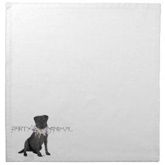 Fiesta negro del labrador retriever servilleta imprimida