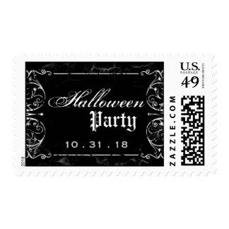 Fiesta negro fantasmagórico de Halloween del Sello Postal
