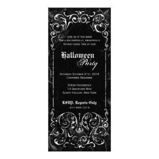 Fiesta negro fantasmagórico de Halloween del Victo Anuncio