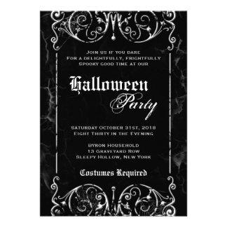 Fiesta negro fantasmagórico de Halloween del Victo Comunicado Personalizado