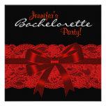 Fiesta negro rojo de Bachelorette del cordón