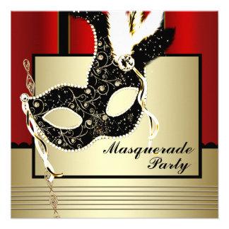 Fiesta negro rojo de la mascarada de la máscara ne anuncios