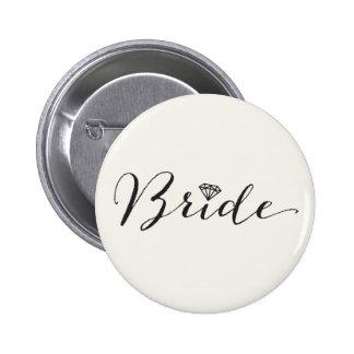 Fiesta nupcial del boda elegante del diamante de pin redondo de 2 pulgadas