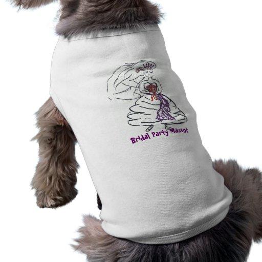Fiesta nupcial playera sin mangas para perro