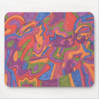 Fiesta, Original Abstract Mouse Pad
