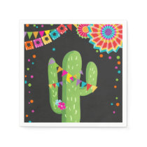Fiesta Paper Napkin Mexican Cactus Floral Birthday