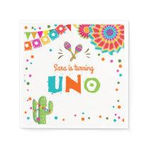 Fiesta Paper Napkins Mexican Uno First Birthday