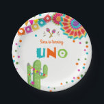 "Fiesta Paper Plates Cactus Mexican Succulent Uno<br><div class=""desc"">♥ A perfect addition to your party! Fiesta theme.</div>"