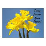 ¡Fiesta para el buen amigo! Flor del narciso de Invitación Personalizada