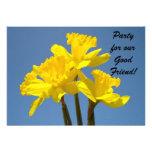 ¡Fiesta para el buen amigo! Flor del narciso de la