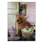 Fiesta para las tarjetas de un gatito