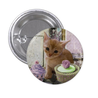 Fiesta para un botón del gatito pin redondo de 1 pulgada