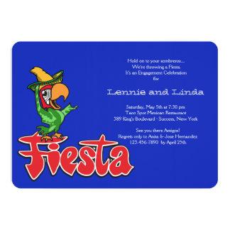 "Fiesta Parrot Invitation 5"" X 7"" Invitation Card"