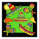 """Fiesta Partido - SRF 5.25"""" Square Invitation Card"""