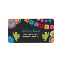 Fiesta Party Address Labels Mexican Fiesta Party