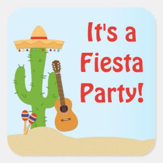 Fiesta Party Favor Sticker