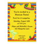 """Fiesta Party Invitation 5"""" X 7"""" Invitation Card"""