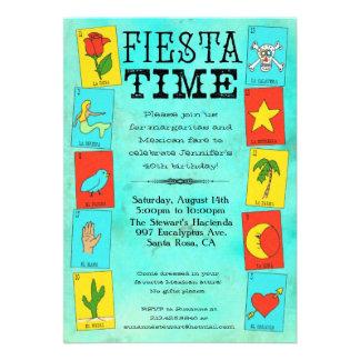 Fiesta Party Invitation Lotteria Cards