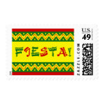 fiesta party invitation postage stamps
