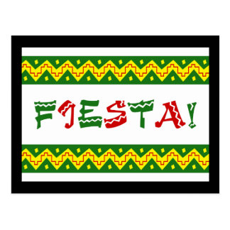 fiesta party invitation postcard