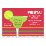 "Fiesta Party Invitation w/matching Envelopes 5"" X 7"" Invitation Card"